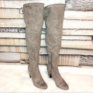 Shoes - UNISA • Taupe Over the Knee Boots